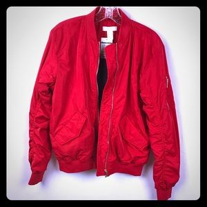 Size: 2 H&M Red ❤️James Dean Bomber Jacket ❤️